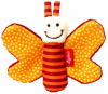 Sigikid 41181 Knister-Schmetterling Red Stars orange