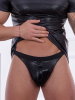 Patrice Catanzaro Noam: Wetlook-String, schwarz