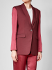FRENKEN Blazer mit Materialmix bordeaux