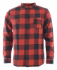 QUIKSILVER MOTHERFLY Flannelhemd 2019 barn red motherfly check - L