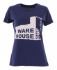 WH1 USED FACTORY Slim Fit Lady T-Shirt dark blue - L