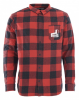 QUIKSILVER MOTHERFLY WH1 Flannelhemd barn red motherfly check - XS