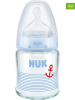 NUK 2er-Set: Babyflaschen ´´First Choice - Glas´´ in Blau - 2x 120 ml, Gr. 1 - 21% | Baby ernaehrung