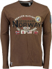 Geographical Norway Longsleeve ´´Jarbone´´ in Taupe - 79% | Größe S | Herrenshirts