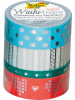 Folia Washi-Tape ´´Hotfoil III´´ in Silber - 4x 5 m - 64% | Kreativbedarf diy