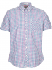 Ben Sherman Hemd ´´SS House Check´´ - Regular Fit - in Lila - 64% | Größe M | Herrenhemden
