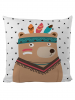 Mr Little Fox Kissen ´´Indian Bear´´ in Weiß - (L)50 x (B)50 cm - 65% | Dekokissen