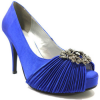 Haute Couture Pumps pumps electric blaue satin strass at389