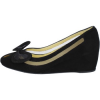 Angels Ballerinas WILLYS keilschuhe schwarz wildleder at322