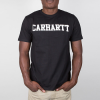 Carhartt Work In Progress Kurzarm Hemdbluse Carhartt WIP S/S College T-Shirt - Black / White