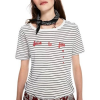 Maison Scotch T-Shirt SHORT SLEEVE TEE WITH FRENCH