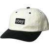 Obey Schirmmütze Brooks 6 Panel Cappello Bianco