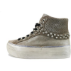 Crime London Turnschuhe sneakers braun wildleder textil AH900