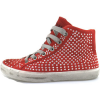 Crime London Kinderschuhe sneakers rot wildleder strass AH982