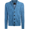 Roberto Collina Strickjacken Cardigan in Hellblauem Melangeffekt