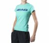 Head - T-Shirt Damen Lucy Branded - türkis/dunkelblau - XL